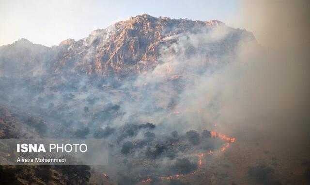 ببینید: محیط زیست برای خاموشکردن آتش جنگل بالگرد ندارد! آتش سوزی کهگیلویه و بویراحمد ادامه دارد