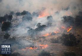 ویدئو / آتش خائیز به بهبهان رسید؛ مراتع در خطرند