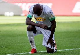 (عکس) فوتبال علیه نژادپرستی در آمریکا