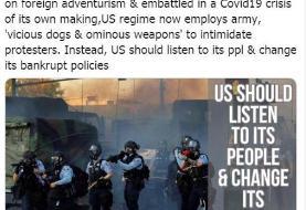 وزارت خارجه ایران خطاب به مقامات آمریکا: صدای مردمتان را بشنوید