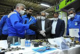 بازدید معاونان وزیر کار از نمایشگاه دستاوردهای خلاقانه کارکنان ایران خودرو