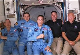 فضانوردان دراگون وارد ایستگاه فضایی بینالمللی شدند