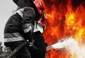 آتشسوزی گسترده در کارخانه بازیافت کاغذ بینالود