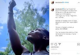 (عکس)واکنش شدید پل پوگبا به مرگ سیاهپوست امریکایی