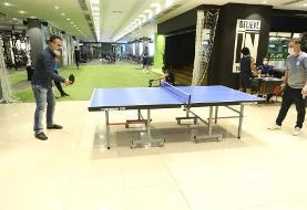 عکس | رقابت جذاب پینگ- پنگ بین کادرفنی استقلال