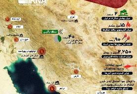 آتش بر جان جنگلهای زاگرس ایران (اینفوگرافیک)