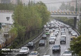 ترافیک سنگین از غرب به شرق و جنوب به شمال بزرگراهها