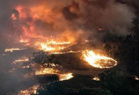 آتش ۱۲۵ بار به جان باغها و مراتع ساوه افتاد