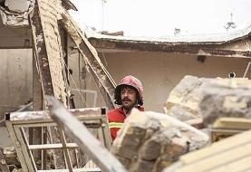(تصاویر) انفجار یک واحد مسکونی در قم
