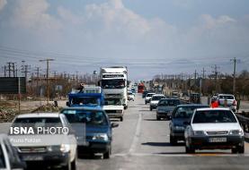 ترافیک پرحجم در جادههای منتهی به شمال