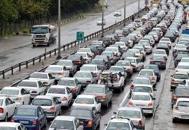 ترافیک فوق سنگین در محورهای هراز و فیروزکوه