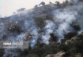 آخرین وضعیت آتش سوزی خائیز در خوزستان و کهگلیویه و بویراحمد