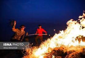 کنترل آتش سوزی جنگلهای خائیز کهگیلویه