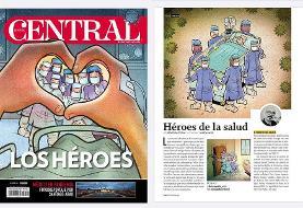 هنرمند ایرانی با کارتونهای ضدکرونایی روی جلد مجله سنترال مکزیک