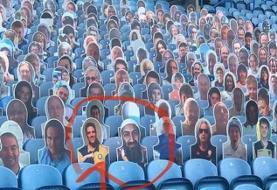 چهره اسامه بنلادن در بین تماشاگران لیگ برتر انگلیس/عکس
