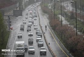 وضعیت ترافیکی جاده های کشور/باران و مه گرفتگی در برخی محورها