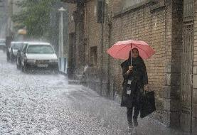 باد شدید و باران سه روزه در ایران | احتمال رگبار در تهران