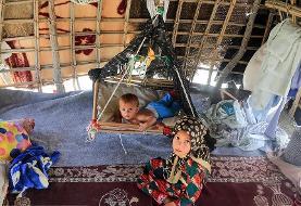 (تصاویر) جولان گرما، عقرب و رتیل در کمپ سیل زدگان هرمزگان