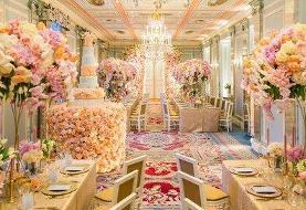 عروسی به سبک سیندرلا در لواسان با یک میلیاردتومان هزینه