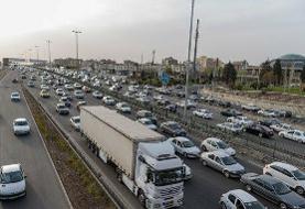 ترافیک پرحجم در دو آزادراه غربی پایتخت