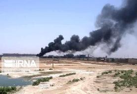 آتشسوزی در انبارهای شرکت فولاد خوزستان