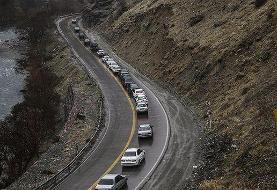 کاهش بار ترافیکی محور کندوان / تردد نیمه سنگین و روان در جریان است