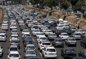 ترافیک سنگین در محور کرج _ چالوس