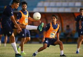 تمرین اختصاصی دیاباته و شجاعیان/ فوتبال درونتیمی زیرنظر مجیدی