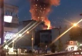 ببینید | لحظه هولناک انفجار مرکز درمانی سینا که تهران را داغدار کرد