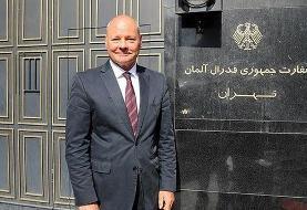 سفیر آلمان با نیسان آبی از ایران رفت (+عکس)
