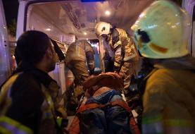 (تصاویر) آتش سوزی و انفجار در مرکز پزشکی سینا در تجریش