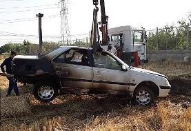 (تصاویر) آتشسوزی گندمزار منجر به آتش گرفتن پژوپارس شد