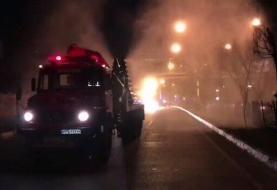 آتشسوزی در کلینیک درمانی در شمال تهران