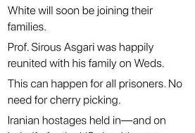 توییت ظریف درباره تبادل زندانیان ایرانی و آمریکایی