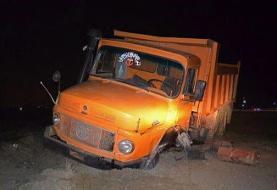 تصادف کامیون با پراید در جردن تهران