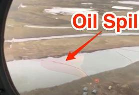 A Russian mining company spilled 20,000 tons of oil in the Arctic Circle, turning a river red ...