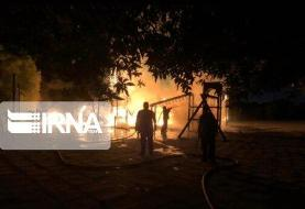 ببینید | آتش سوزی پنجشنبه شب دریاچه چیتگر