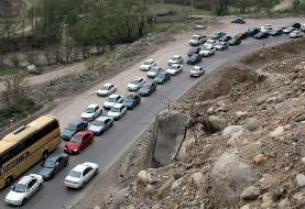 محور هراز دو طرفه شد/ ترافیک همچنان سنگین است