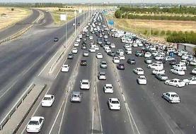 ترافیک نیمهسنگین در مسیرهای منتهی به تهران