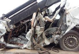 یک کشته و ۴ زخمی در یک حادثه تصادف
