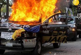 (تصاویر) آشوب در گوادالاخارا پس از قتل جورج فلوید مکزیکی