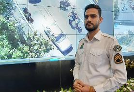 رصد یک تصادف در مرکز  کنترل ترافیک هوشمند پلیس راهور پایتخت