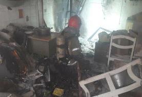 آتش سوزی مغازه شارژ فندک در بازار تهران
