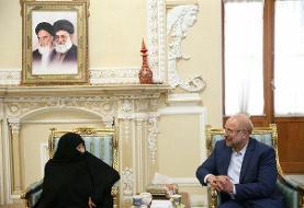 قالیباف با والده شهید حسین خرازی دیدار کرد