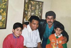 محمد پنجعلی در کنار محمدعلی کلی/عکس