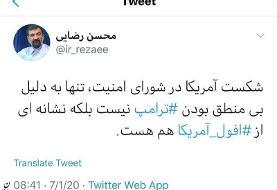 واکنش توئیتری محسن رضایی به جلسه شورای امنیت درباره برجام