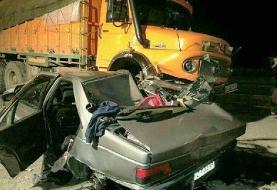 عکس| تصادف هولناک با ۶ کشته و ۲ مصدوم در مسیر قزوین-آبیک