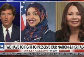 Fox News host Tucker Carlson accused of echoing white supremacist slogan on air