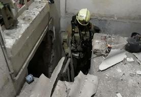 انفجار در منزل مسکونی قدیمی
