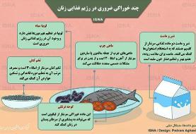 اینفوگرافیک / چند خوراکی ضروری در رژیم غذایی زنان